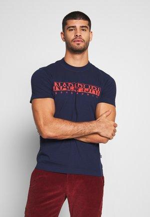 SOLANOS - Camiseta estampada - medieval blue