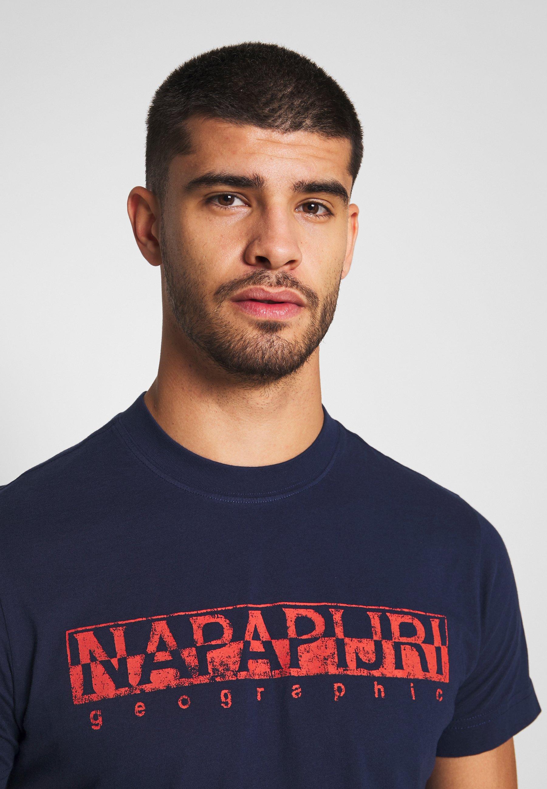 Napapijri T-shirt z nadrukiem - medieval blue
