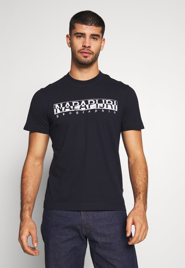 SOLANOS - T-shirt z nadrukiem - marine