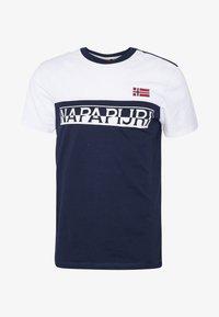 Napapijri - SARAS - Camiseta estampada - medieval blue - 3