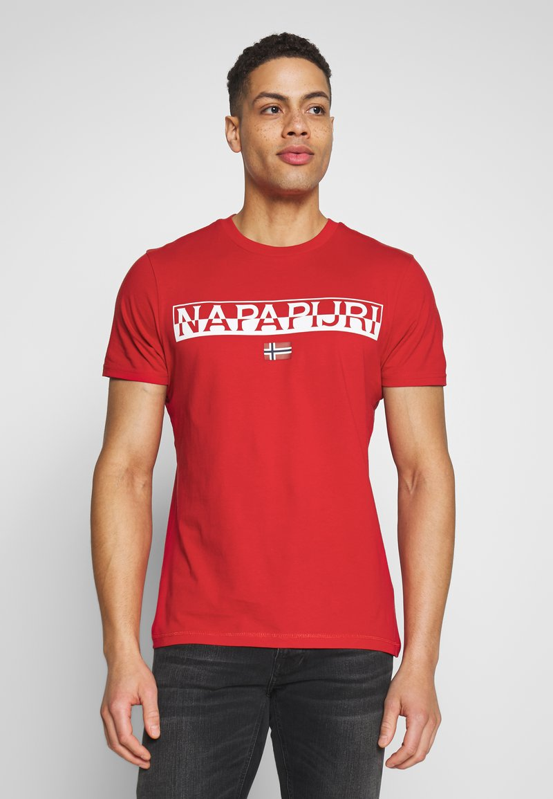 Napapijri - SARAS SOLID - Camiseta estampada - bright red
