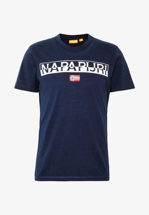 SARAS SOLID - T-shirt z nadrukiem - medieval blue