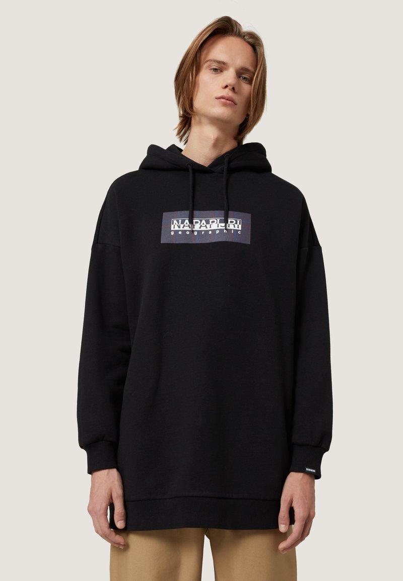 Napapijri - BOX CHECK - Hoodie - black
