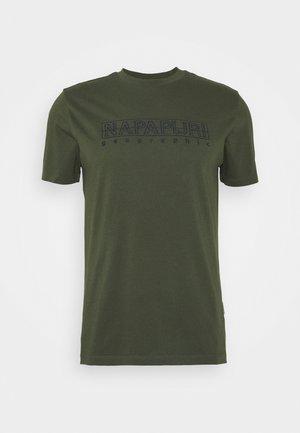 SEBEL - T-shirt med print - green