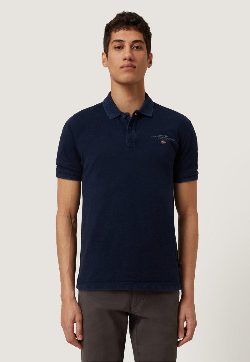 Napapijri - ELBAS - Koszulka polo - blu marine
