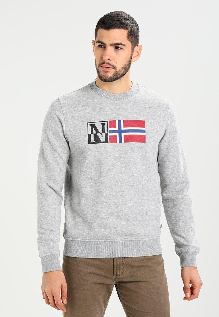 Napapijri - BENOS CREW - Sweatshirt - medium grey melange