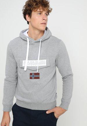 BURGEE - Bluza z kapturem - med grey melange