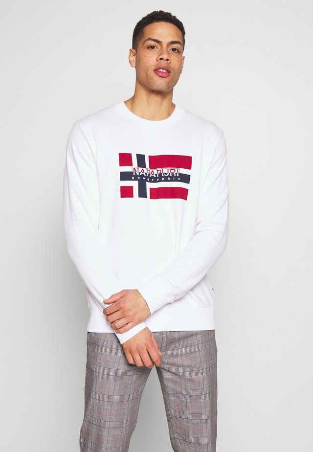 BOVICO CREW NECK - Sweatshirt - bright white