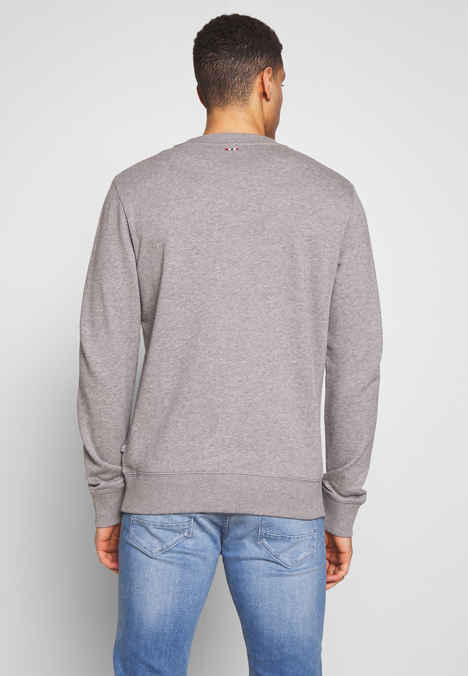 Napapijri BOVICO CREW NECK - Felpa - mottled grey