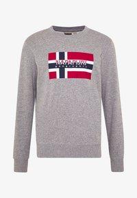 Napapijri - BOVICO CREW NECK - Sweater - mottled grey - 3