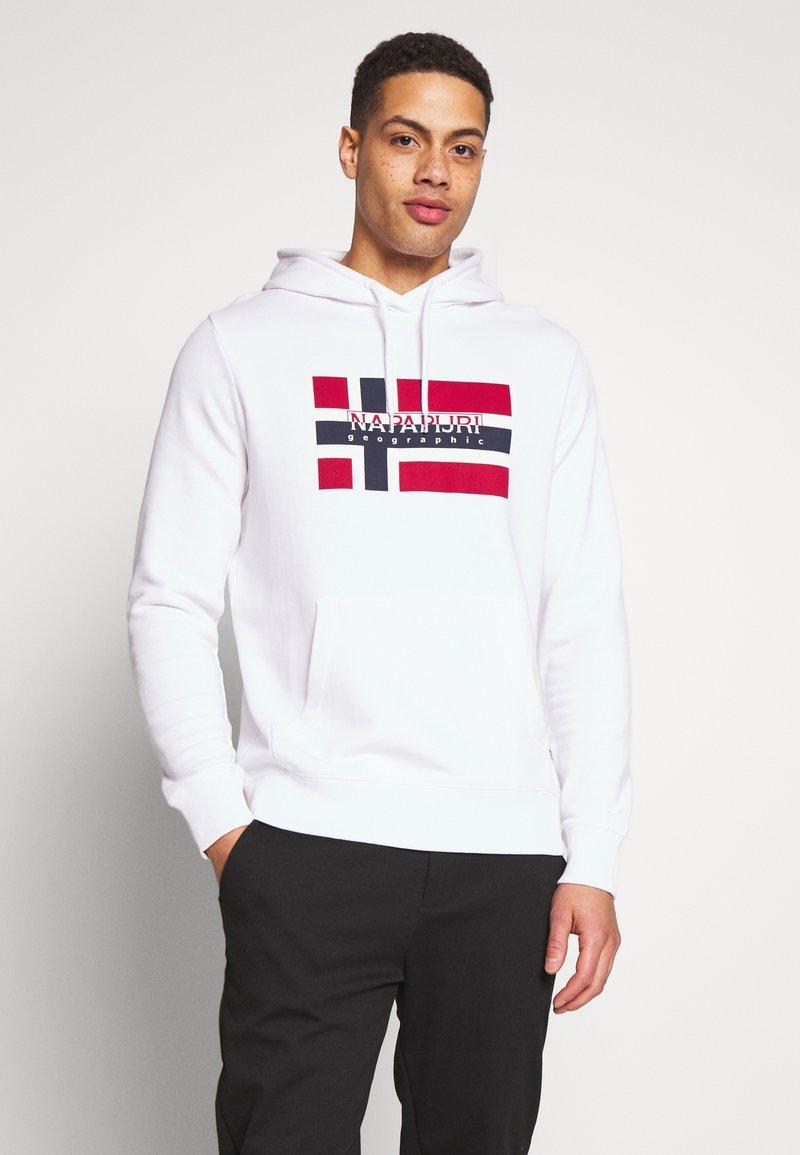 Napapijri - BOVICO HOODIE - Bluza z kapturem - bright white