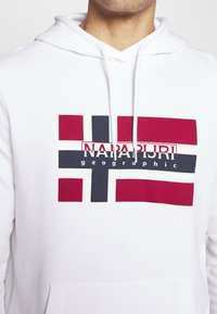 Napapijri - BOVICO HOODIE - Bluza z kapturem - bright white - 4