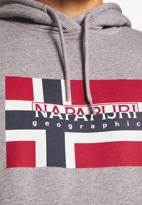 Napapijri - BOVICO HOODIE - Bluza z kapturem - grey melange - 4