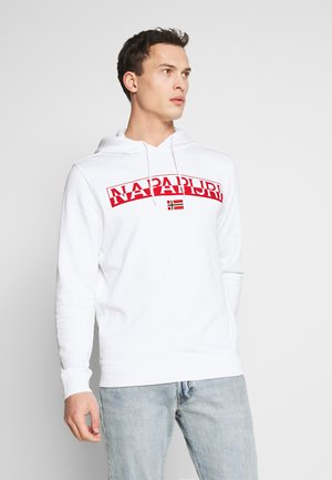 BARAS HOODIE  - Bluza z kapturem - bright white