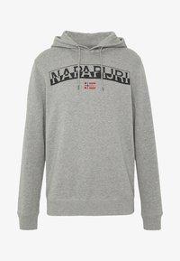 Napapijri - BARAS HOODIE  - Bluza z kapturem - med grey mel - 3