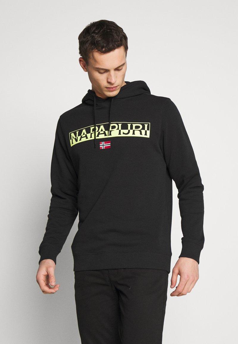 Napapijri - BARAS HOODIE  - Bluza z kapturem - black