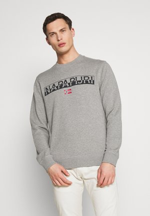 BARAS CREW NECK - Collegepaita - mottled grey
