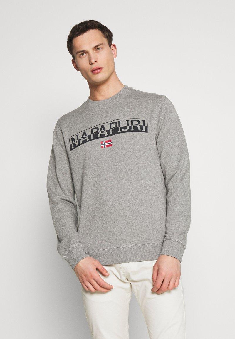 Napapijri - BARAS CREW NECK - Sweatshirt - mottled grey