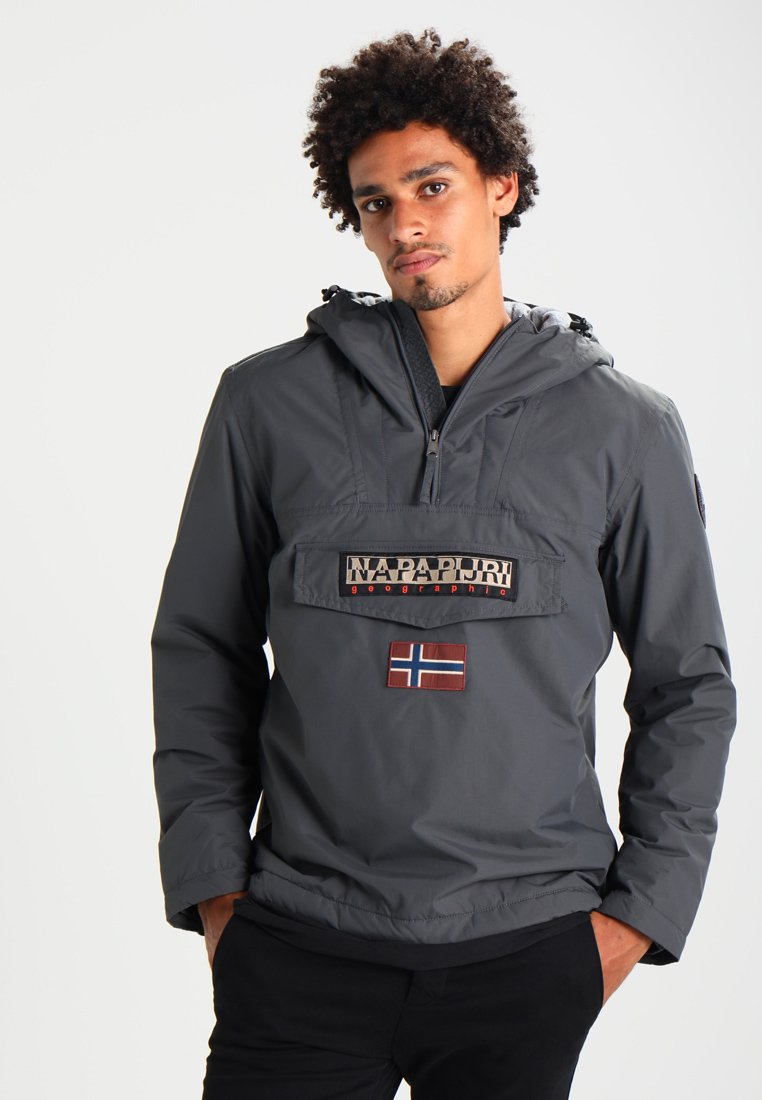Napapijri - RAINFOREST WINTER - Windbreakers - dark grey solid