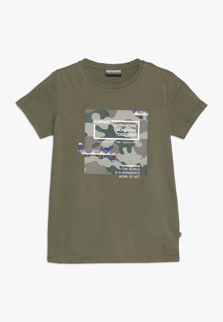 Napapijri - SILLAB - Print T-shirt - new olive green