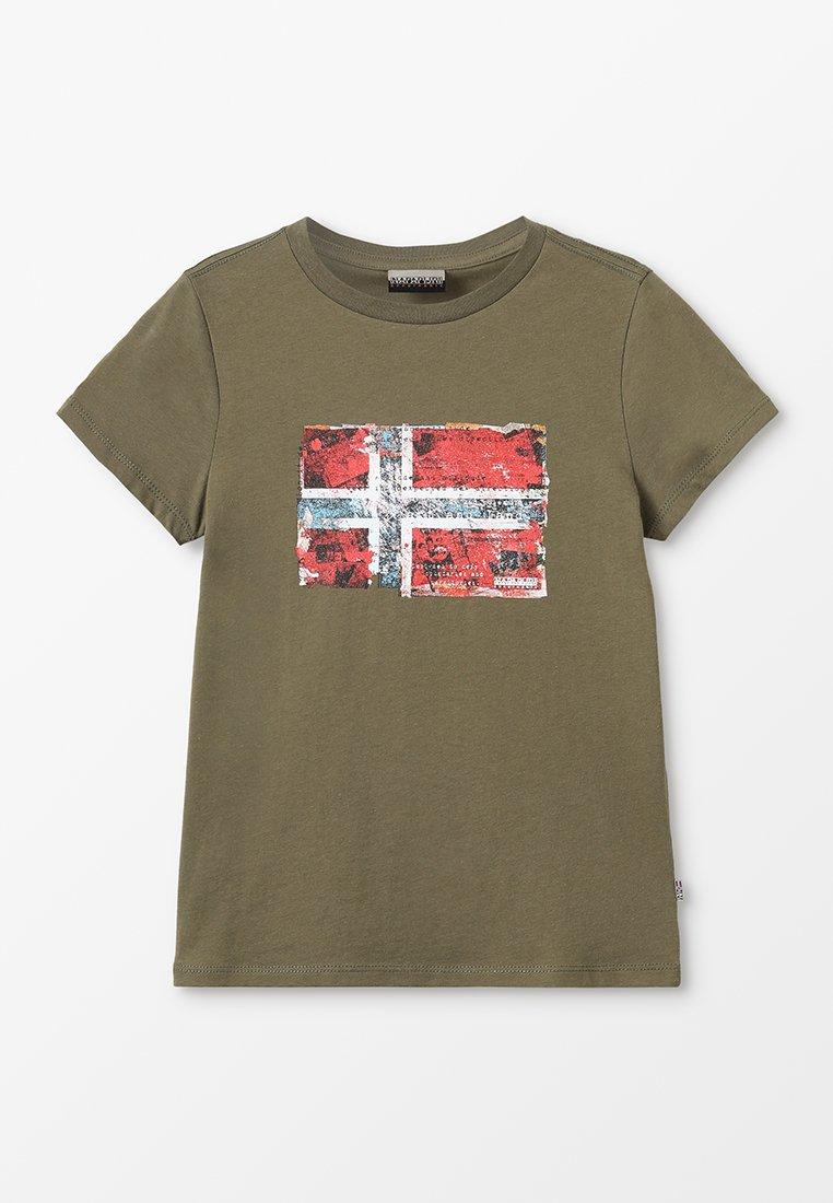 Napapijri - Print T-shirt - new olive green