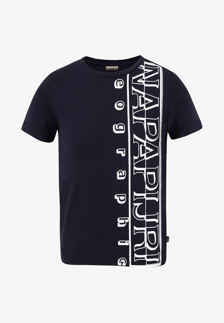 Napapijri - K SERI - Print T-shirt - blue marine