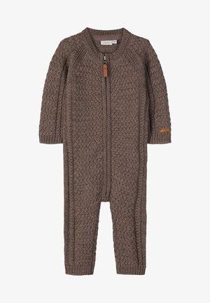Overall / Jumpsuit - mottled dark brown