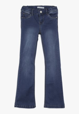 NKFPOLLY DNMINDIGO BOOTCUT  - Bootcut jeans - dark blue denim