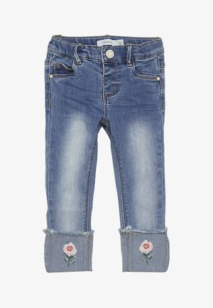 NMFPOLLY DNMBILA  ANCLE PANT - Jeans Skinny Fit - medium blue denim