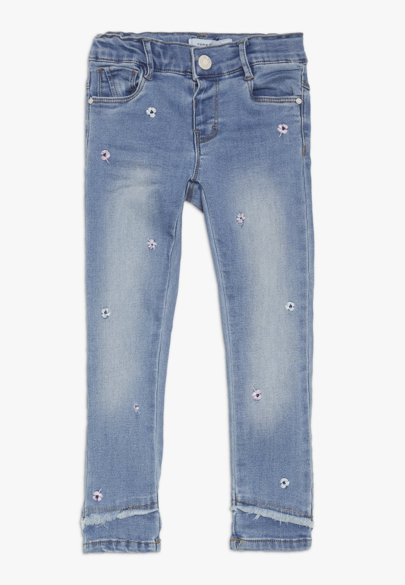 Name it - NMFPOLLY DNMBILA ANCLE PANT - Vaqueros rectos - light blue denim
