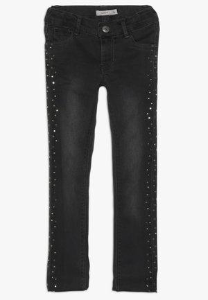 NKFPOLLY PANT - Skinny džíny - dark grey denim