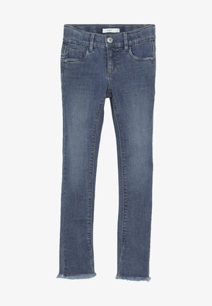 NKFPOLLY DNMTEJA ANCLE PANT - Vaqueros slim fit - medium blue denim