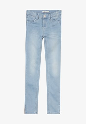 NKFPOLLY 1319 ANCLE PANT - Skinny-Farkut - light blue denim