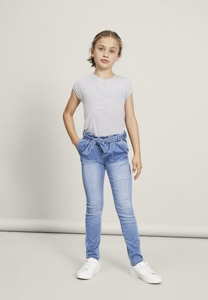 NAME IT JEANS BINDEGÜRTEL - Jean slim - light blue denim