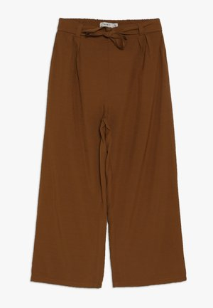 NKFLUWIDA WIDE PANT - Trousers - rubber