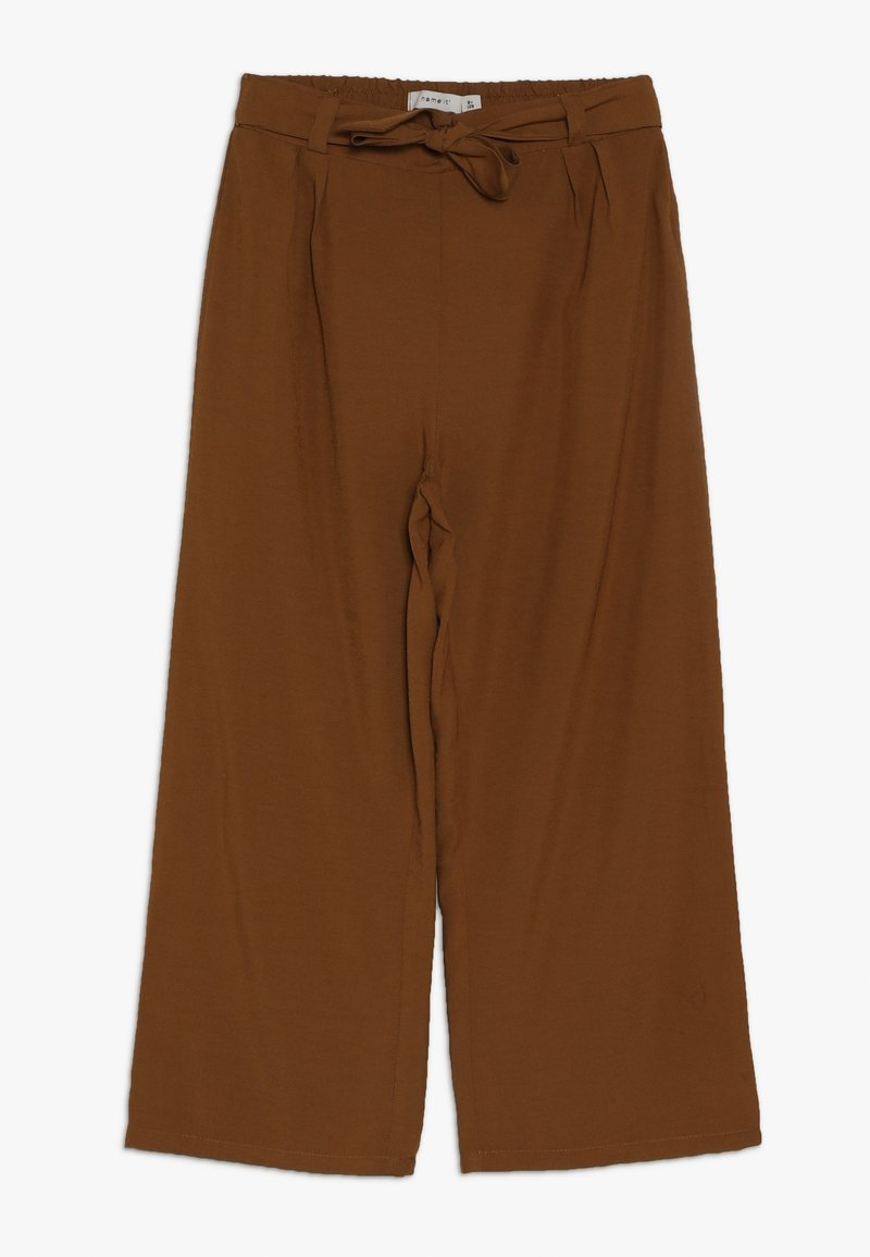 Name it - NKFLUWIDA WIDE PANT - Trousers - rubber