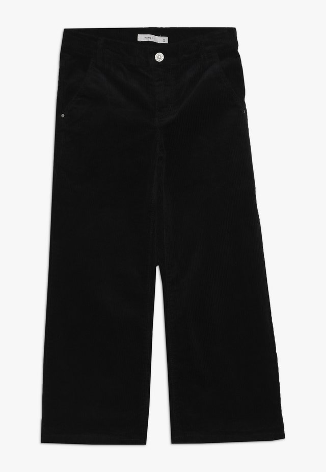 NKFANICKA WIDE PANT - Spodnie materiałowe - black