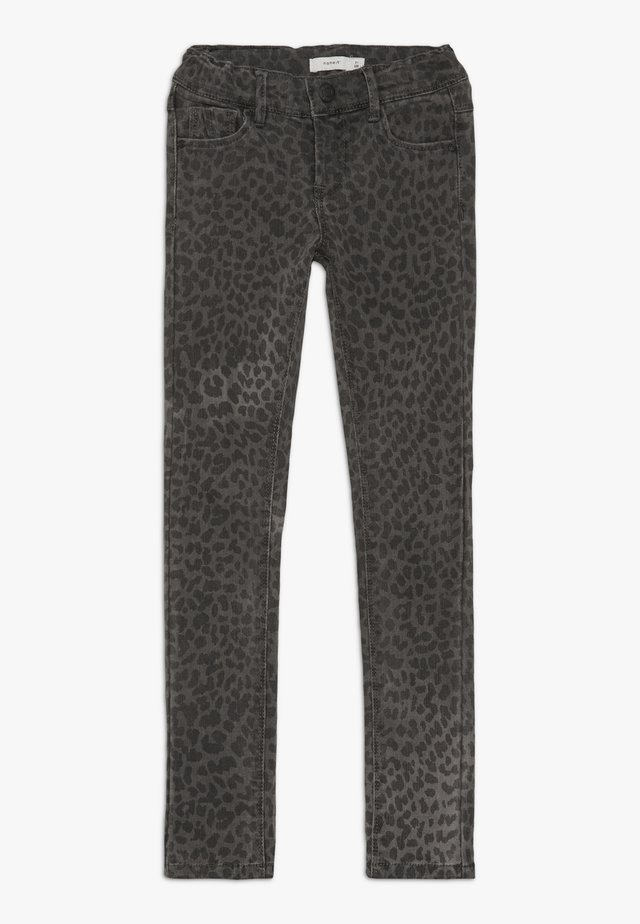 NKFPOLLY TWITULEO PANT  - Slim fit -farkut - dark grey