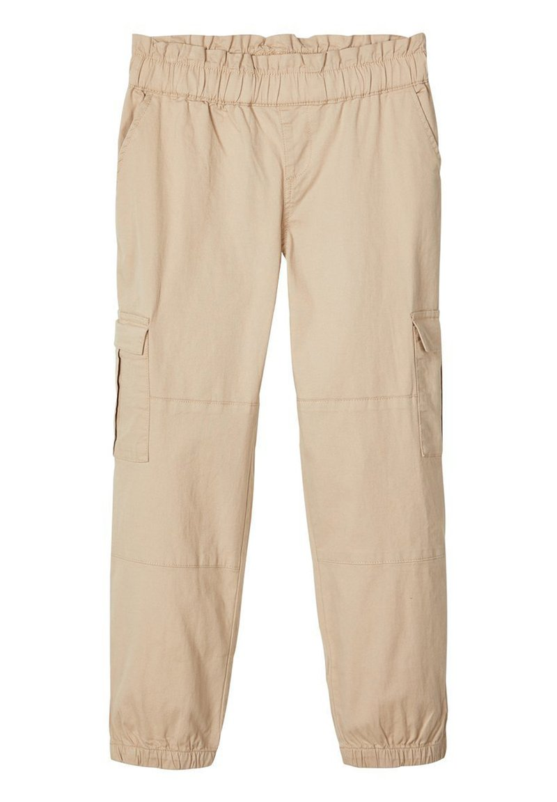 Name it - CARGOHOSE LOOSE FIT - Trousers - white pepper