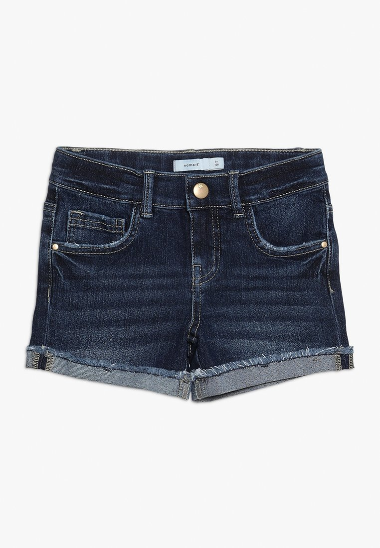 Name it - Denim shorts - dark blue denim