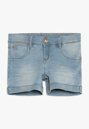 NKFSALLI - Shorts vaqueros - light blue denim