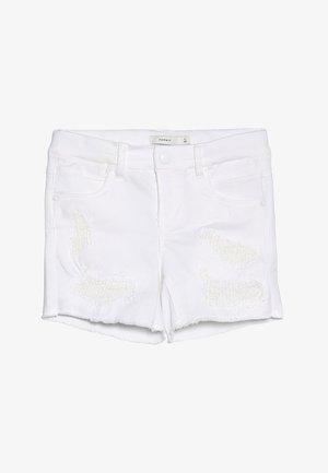 NKFSALLI - Jeans Shorts - white denim