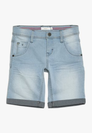 SOFUS - Denim shorts - light blue denim