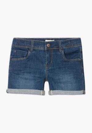 NKFSALLI - Denim shorts - dark blue