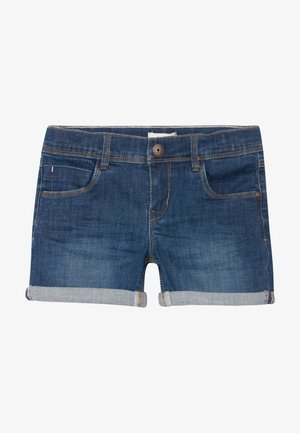 NKFSALLI - Short en jean - dark blue