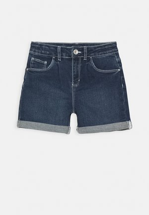NKFROSE DNMACECE MOM - Denim shorts - dark blue denim