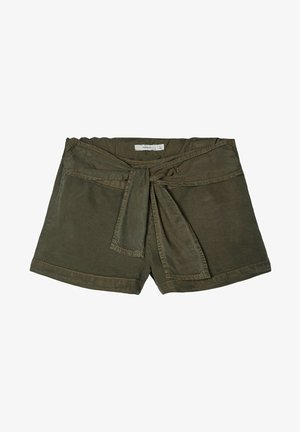 Denim shorts - ivy green