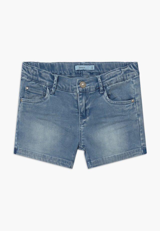NKFSALLI - Denim shorts - medium blue denim