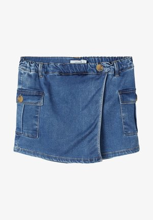 JEANSSHORTS POWERSTRETCH REGULAR FIT - Denim shorts - medium blue denim
