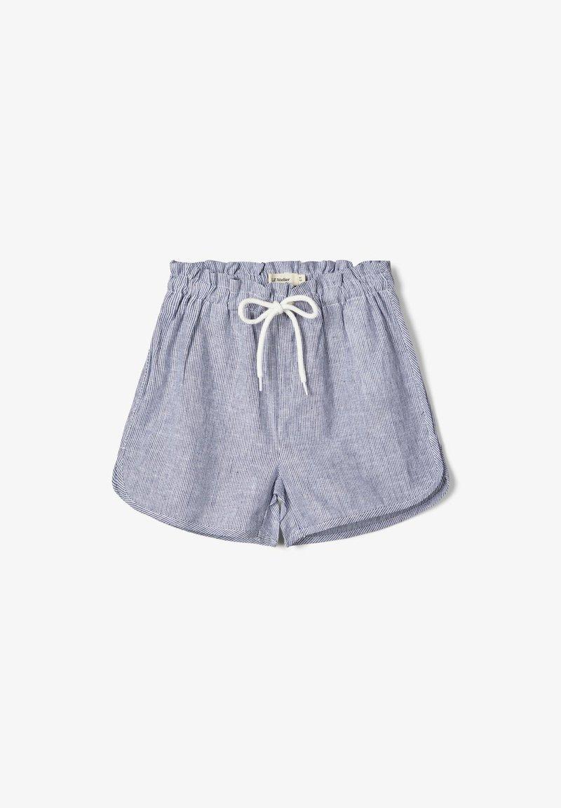 Name it - SHORTS GESTREIFTE LEINEN - Short - bright white